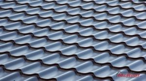 Metal Roof Shingles in a Panel