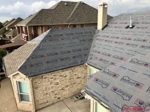 Damged Roof Tarped as Part of Emergency Roof Repair